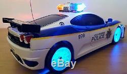 Ferrari Spider Police Car Radio Remote Control Car Siren Sound Leds Fast Speed