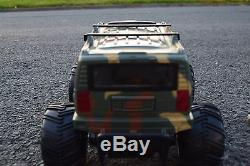 Giant Size Army Military Hummer Monster Truck Radio Remote Control Car 1/14
