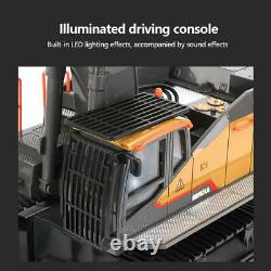 Huina 1592 RC Excavator 1/14 Radio Controlled Truck 2.4G Remote Control Car Toy
