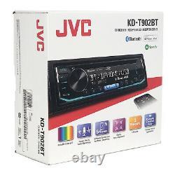 JVC Single DIN Bluetooth USB/AUX AM/FM Radio CD Player Car Receiver With Remote