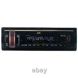 JVC Single DIN Bluetooth USB AUX AM/FM Radio Stereo Car Receiver with Remote