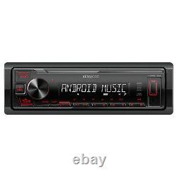 Kenwood KMM Single DIN AM/FM Radio Stereo USB AUX Car Audio Receiver with Remote