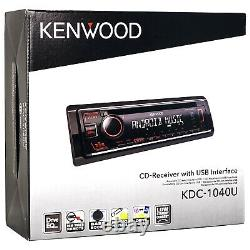 Kenwood Single DIN AM/FM Radio Stereo USB AUX CD Car Receiver System with Remote