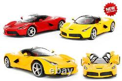 LA Ferrari Licenced Radio Remote Control Car 114 Scale Red & Yellow RC Toy Gift
