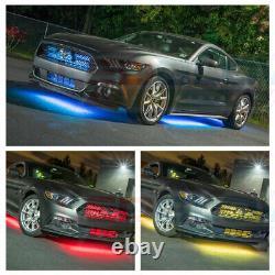 LEDGlow 6pc MULTI COLOR MILLION LED UNDER CAR GLOW LIGHTS KIT w WIRELESS REMOTE