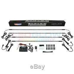 LEDGlow 7 Color LED Underglow Underbody Car Neon Lights Kit w Wireless Remote