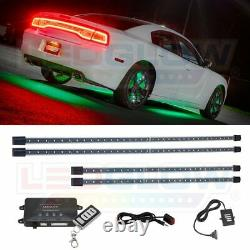 LEDGlow Green LED Underglow Car Underbody Neon Light Kit w Wireless Remote
