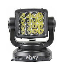 LED Search Light Truck Car Marine Wireless Remote Control 40m Magnetic Spotlight