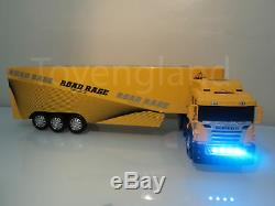 Large Europe Truck Lorry 49cmL Radio Remote Control Car LED Headlights YELLOW