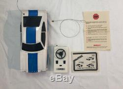 Latrax Radio Controlled Vintage Mustang II Cobra White And Blue Remote RC Car