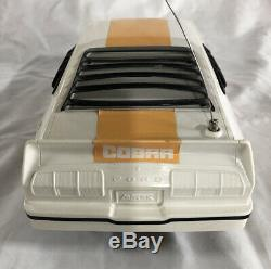 Latrax Radio Controlled Vintage Mustang II Cobra White And Yellow Remote RC Car