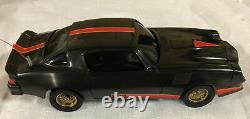 Latrax Radio Remote Controlled Camaro Z28 Vintage Rc Car Black Red RARE GOLD RIM