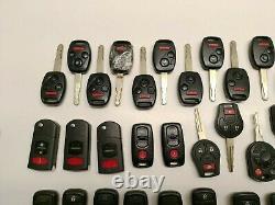 Lot Of 58 Oem Car Fob Keys Keyless Remote