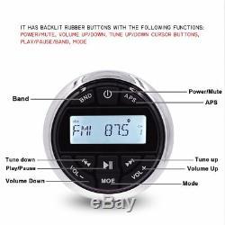 Marine Boat AM/FM Radio Bluetooth Stereo Car Audio Music Receiver + Wire Remote