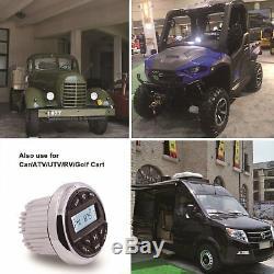 Marine Gauge FM AM Boat Radio Car ATV Bluetooth Stereo + Wired Remote Control