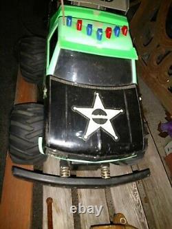 Monster Patrol RC 4x4 Truck Car Radio Shack No Remote Untested Parts