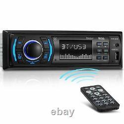 NEW BOSS Bluetooth Car Stereo Receiver USB MP3 WMA Player AM/FM Radio AUX Remote