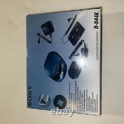 NEW Vintage Sony CD CAR Discman Player D-844K With Wireless Remote AC DC NIB
