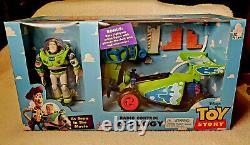 NIB Original TOY STORY Radio Remote Control RC BUGGY, Bonus BUZZ, Thinkway Toys