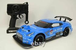 NISSAN SPORTS 2.4GHZ 1/14 DRIFT 4WD RADIO REMOTE CONTROL CAR BLUE SPEED 25Km/h