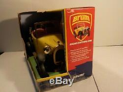 N Vintage Brum RC Car Yellow Roadster With Remote Radio Shack New In Box