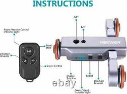 Neewer 3-Wheels Wireless Camera Video Auto Dolly Car with Remote Control JP