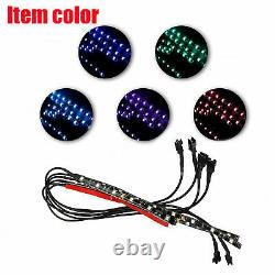 New 6X Motorcycle led lights Wireless Remote 18 color Neon Glow Light Strips Kit