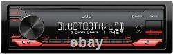 New Bluetooth JVC Car Stereo Receiver USB WMA Player LCD AM/FM EQ AUX Remote App