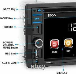 New Boss Bluetooth 6.2 Touchscreen Car Stereo USB/SD AM/FM Radio AUX EQ Remote