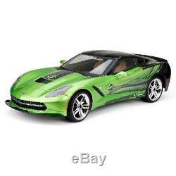 New Bright 18 Radio Remote Control RC Full-Function 9.6V Corvette C7 Car, Green