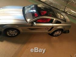 New Bright Ford Mustang GT Concept Silver 9.6V Remote Radio Control Car RC 27mHZ