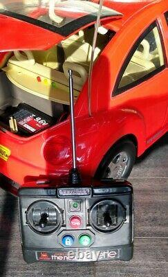 New Bright Volkswagen Radio Control Red 16 Scale 26 withRemote & Battery