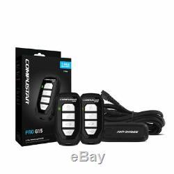 New Compustar RF-P2WG15-SS PRO G15 4-Button 2-Way LED Car Audio Alarm Remote Kit