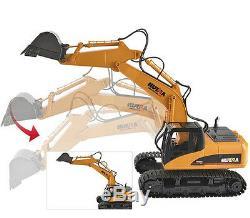 New Rc Excavator Construction Hydraulic Control Radio Remote Control Rc Toy Car