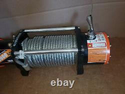 ORSICH 12V 13000LB Electric Remote Waterproof Winch Boat Steel Cable For ATV UTV