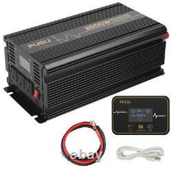PUGU Car Power Inverter 2000W 4000W 12V dc to 120V ac with LCD Cables Remote RV