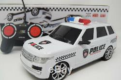Police Range Radio Remote Control Car Fast Rc 10km/h Rangie New Boxed