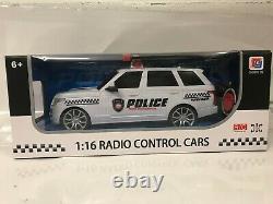Police Range Sports Radio Remote Control Car Led Lights 1/16 Boxed