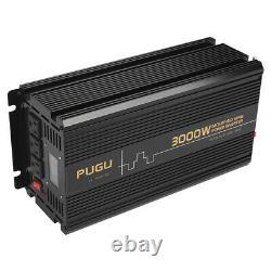Power Inverter 3000W 6000 Watt 12V dc to 110V 120V ac car RV Wireless Remote LCD