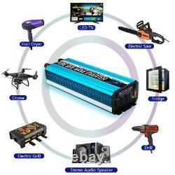 Pure Sine Wave Car Power Inverter 2000W 4000W DC 24V To 110V LCD+Wireless Remote