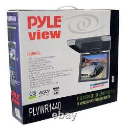 Pyle 14 TFT Flipdown Car Ceiling TV Video Monitor with Wireless Remote (2 Pack)