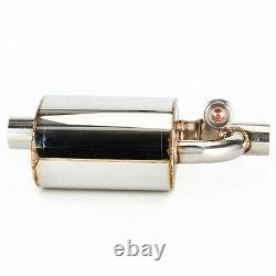 Quality Car Exhaust Muffler Resonator 2.75 Inlet Outlet Pipe+Cutout Valve Remot