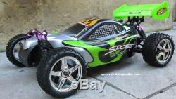 RC Nitro Buggy / Car 1/10 Radio Remote Control RTR 2.4G 1 Yr Warranty YX10603 G