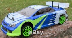 RC Nitro Race Car Radio Remote Control 1/10 Scale 2.4G RTR 4WD 1 Yr Warr. 01045