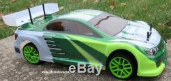 RC Nitro Race Car Radio Remote Control 1/10 Scale 2.4G RTR 4WD 1 Yr Warr. 01047