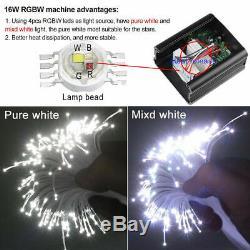 RGBW Remote LED Fiber Optic Star Ceiling Light Kit Glow Shooting 150pc Car Decor
