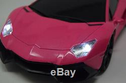Radio Remote Control Car Lambo Pink Rc Car Sports Rc LED Lights Wireless & Fast