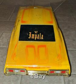 Radio Shack 1967 chevy Impala Lowrider gold car & remote control no battery RARE