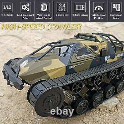 Remote Control Tank, 112 Scale Off-Road Crawler, 2.4Ghz Radio RC Car, 4WD High