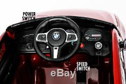 Ride On Car Licensed BMW GT 12V Battery Powered Toy with Remote Control Radio Red